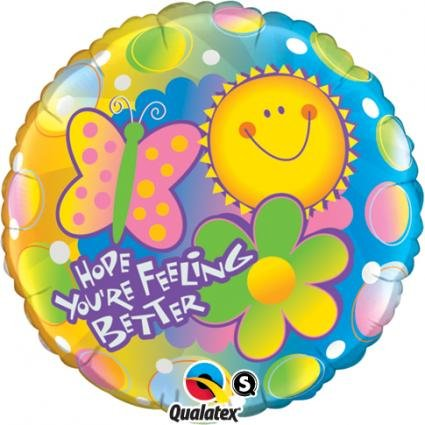 "Pioneer Balloon Company Hope You're Feeling Better Balloon, 18"", Multicolor"