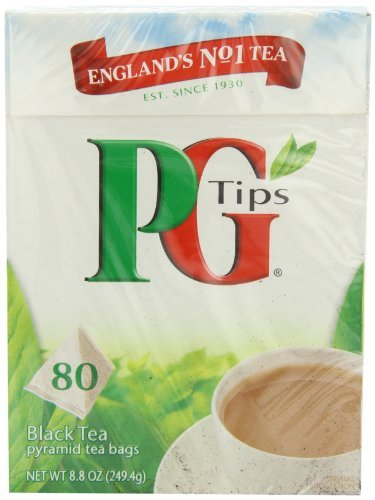 Pg Tips Black Tea, Pyramid Tea Bags, 80Count Boxes (Pack Of 4), Garden, Lawn, Maintenance