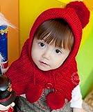(インスタイルベイビー) InStyle Baby ベビー ニット 帽子 ケープ ハンカチ付 ボンボン