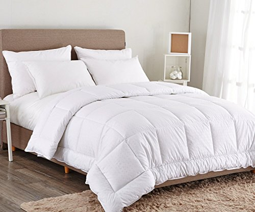 puredown white down alternative comforter duvet insert king cal king cotton shell 300tc. Black Bedroom Furniture Sets. Home Design Ideas