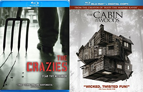 Cabin in the Woods & The Crazies Blu Ray Scary Horror Thriller Movie Set