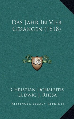 Das Jahr in Vier Gesangen (1818)