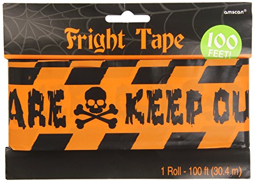 Halloween Caution Keep Out Party Tape (1 per package)