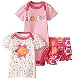 Gerber Baby-Girls Infant 3 Piece Bodysuit Shirt and Panty Set