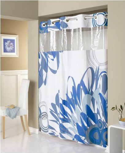 Shower curtains hookless