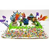 Finding Nemo 15 Piece Birthday Cake Topper Featuring 5 Random Nemo Characters and Other Finding Nemo Decorative Themed Items