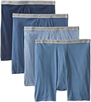 Hanes Mens Dyed Boxer Brief (Pack of 4) Assorted Colors XXL