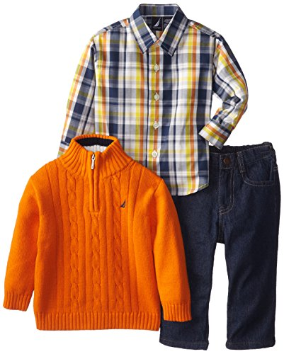 Nautica Baby-Boys Infant 3 Piece Woven Sweater