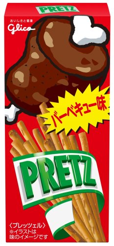 25g10 pieces Ezaki Glico Pretz barbecue taste...