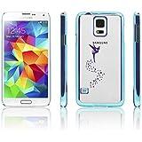 iProtect Schutzh�lle Samsung Galaxy S5 H�lle Fairy Style transparent metallic blau