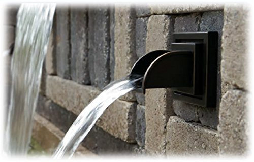 Atlantic water gardens ravenna wall spout solid brass water spout oil rubbed bronze finish - Decorative water spouts ...
