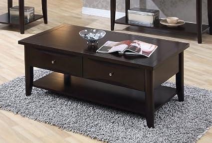 Whitehall Coffee Table w/Shelf/Drawers by Coaster