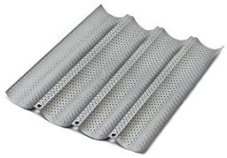 Chef Essential Commercial Grade Perforated Non-Stick French Bread Pan, 4 Rows