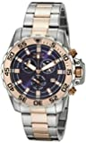 Invicta Men's 13629 Pro Diver Chronograph Blue Dial Two Tone Stainless Steel Watch