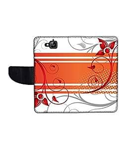 KolorEdge Printed Flip Cover For Huawei Enjoy 5 Multicolor - (1478-50KeMLogo12111HuaweiEjy5)