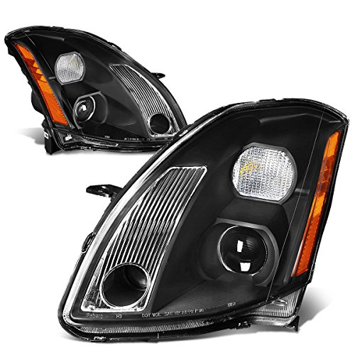 DNAMotoring HL-OH-NM04-BK-AM Headlight Assembly, Driver and Passenger Side (Body Kits Nissan Maxima compare prices)