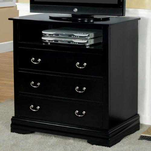 Laurelle Classic Style Black Finish Media Chest front-782574