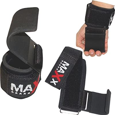 7cm wide Neoprene Padded Weightlifting gym straps with Steel hook by Max Sports Ltd