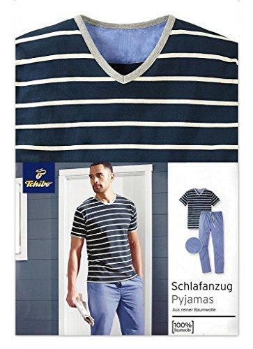 tcm-tchibo-men-blue-stripe-cotton-sleepsuit-blau-gestreift