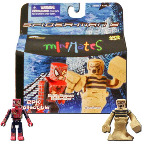 Marvel MiniMates Series 18 Spider-Man 3 Battle Damage Spider-Man and Sandman - 1