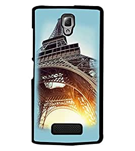 PrintDhaba Tower D-2243 Back Case Cover for LENOVO A2010 (Multi-Coloured)