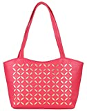 Coash Pink Cutwork Handbag