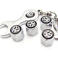 Volkswagen Tire Valve Caps with Wrench Keychain by eFuture