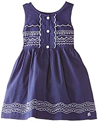 French Connection Kids Girls' Dress (FCN1725_Maya Blue_14-15Y)