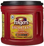 FOLGERS BREAKFAST BLEND MILD GROUND COFFEE 827g TUB MAKES UPTO 240 - 6 fl oz CUP
