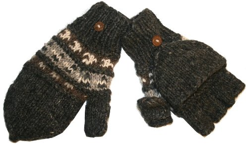 Agan Traders Wool Convertible Fingerless Mitten One Size