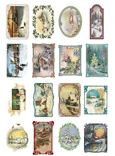 decoupage-paper-pack-10sheets-a4-8x12-christmas-winter-landscapes-flonz-vintage-ephemera
