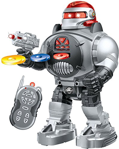 Thinkgizmos Remote Control Robot Fires Discs, Dances, Talks - Super Fun RC Robot (Robots Toys compare prices)