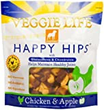 Dogswell - Veggie Life Happy Hips With Glucosamine & Chondroitin Chicken & Apple Jerky - 15 oz.