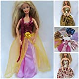 Top Quality Set of 5 Randomly Selected Barbie Sindy sized doll's long length ball gown evening wedding fairy dresses (doll not included) - posted from London by Fat-Catz