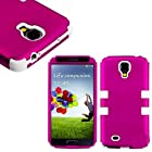myLife (TM) Pink and White - Smooth Color Design (3 Piece Hybrid) Hard and Soft Case for the Samsung Galaxy S4 Fits Models: I9500, I9505, SPH-L720, Galaxy S IV, SGH-I337, SCH-I545, SGH-M919, SCH-R970 and Galaxy S4 LTE-A Touch Phone (Fitted Front and Back Solid Cover Case + Internal Silicone Gel Rubberized Tough Armor Skin)