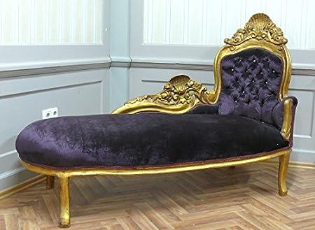 Barock Recamiere Chaiselongue Antik Stil AlSo0316GoLila