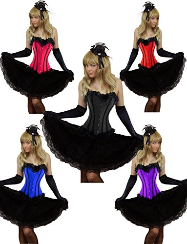 Yummy Bee Burlesque Corset + Long Skirt Plus Size 2-20 Cosplay Costume