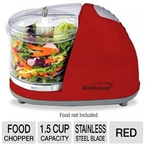 Food Processors Brentwood Mini Food Chopper, Red, Small Appliances, Processor Cooking Cutting (Kitchen Accessories Food Chopper compare prices)