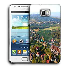 Snoogg City From The Top Printed Protective Phone Back Case Cover For Samsung Galaxy S2 / S II