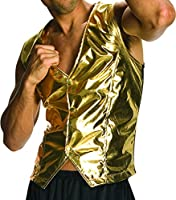 Rubie's Costume Co Men's Old School Adult Gold Costume Vest by Rubies Costumes - Apparel