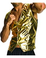 Rubie's Costume Co Men's Old School Adult Gold Costume Vest