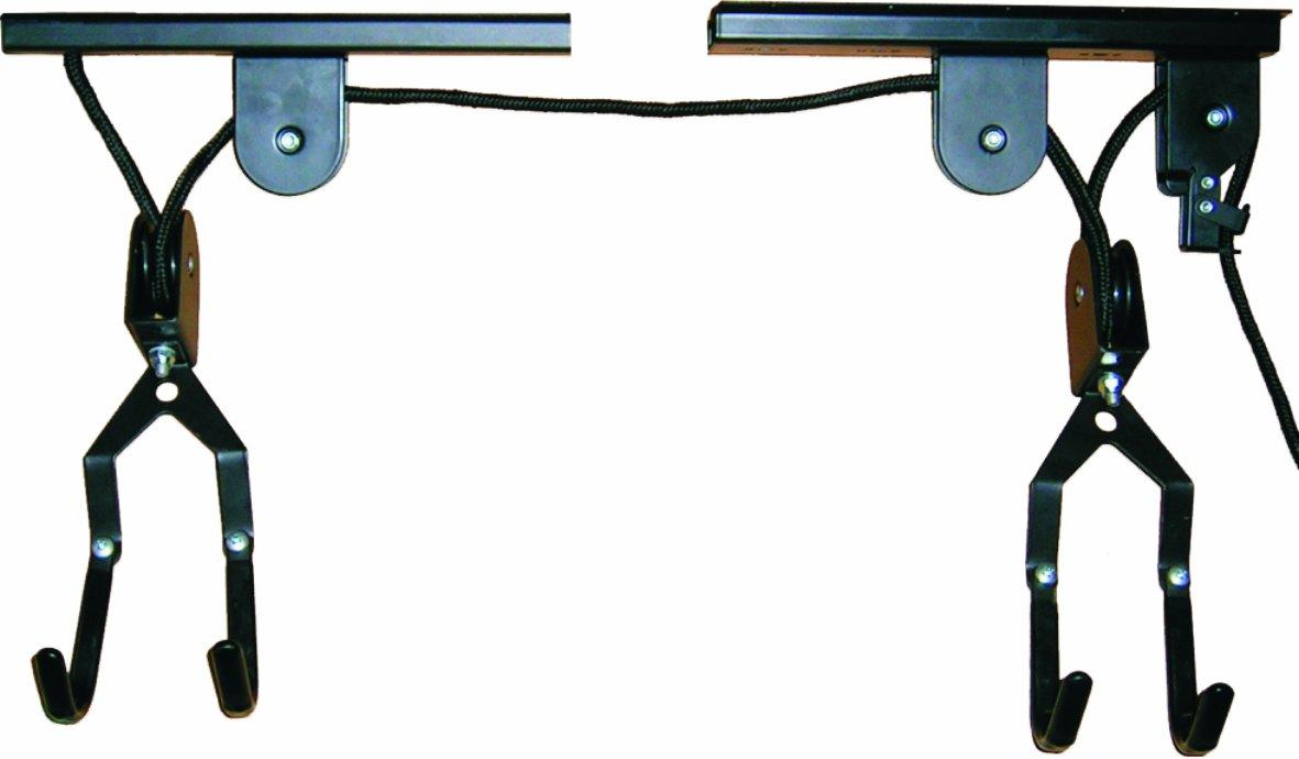 Rangement du velo au plafond forum autres - Porte velo plafond systeme fixation poulie ...