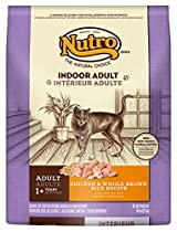 NUTRO Indoor Cat Adult Dry Cat Food, Chicken & Whole Brown Rice, 14 lbs.