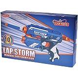 LAP Storm Manual Soft Dart Gun (10 Bullets)