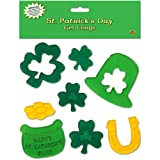 Beistle 33132 St. Patrick s Day Gel Clings Sheet, 7-1 2 by 7-1 2-Inch