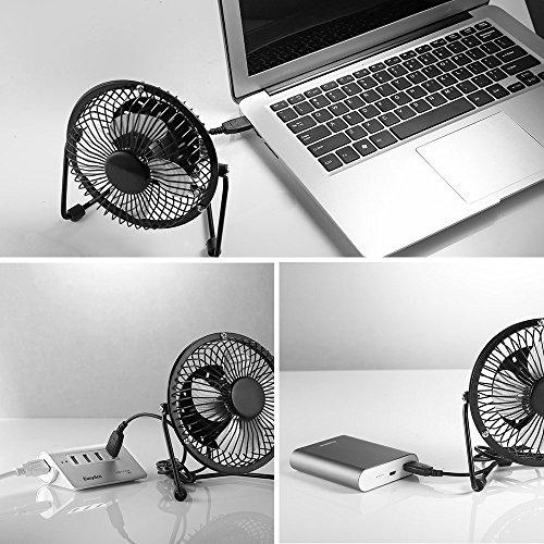 Easyacc mini ventilatore portatile con presa usb da tavolo scrivania basso consumo potente e - Ventilatore da tavolo usb ...