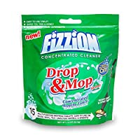 Fizzion Clean Drop & Mop - 15 Tablets - All Purpose Floor Cleaner - Grout Cleaner - Hardwood Floor Cleaner - Tile Cleaner