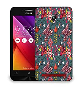 Snoogg Multicolor Butterfly Designer Protective Phone Back Case Cover For Asus Zenfone GO