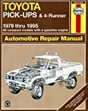 img - for Toyota Pick-ups & 4-runner 1979-95 Automotive Repair Manual book / textbook / text book