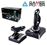 Games Power Pro Flight Control USB PC Joystick And Throttle